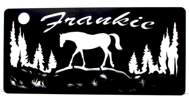 metal ranch sign horse