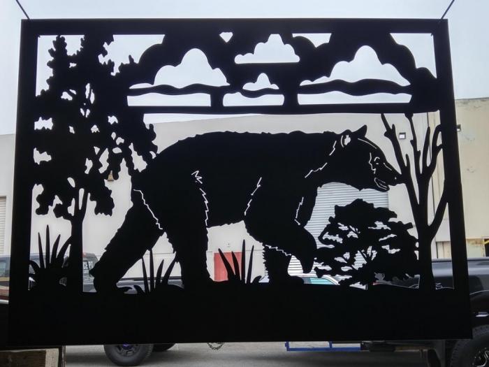 single-bear-railing-panel
